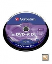 CDR DVD+R VERBATIM 8.5GB DOUBLE LAYER