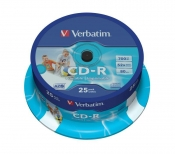 CDR CD-R VERBATIM 700MB WIDE PRINTABLE
